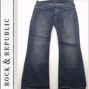 """ROCK & REPUBLIC Jeans size 28 inseam 27"""" hemmed"""